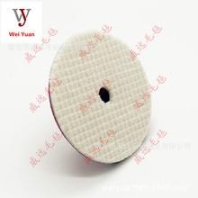 6-дюймовый японский Стиль шерсти Полировочный диск 150 Размеры стекались Короткие Плюшевые ботинки шерстяное шлифовальное колесо самоклеющаяся пластина