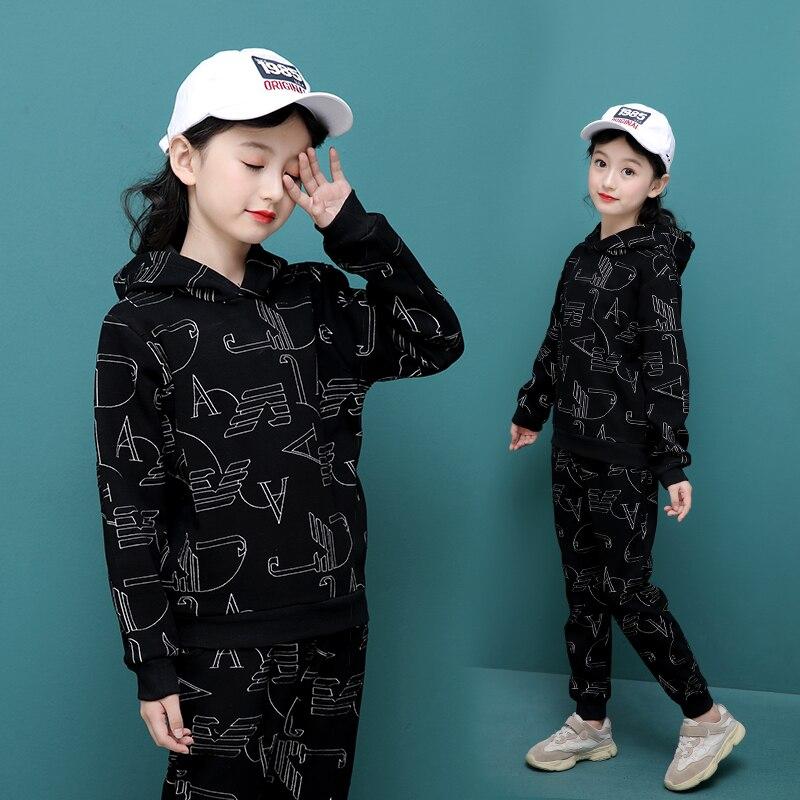 2019 Toddler Girl Clothes Winter Warm girls Clothing Set 2pcs Children Kids Tracksuit T504