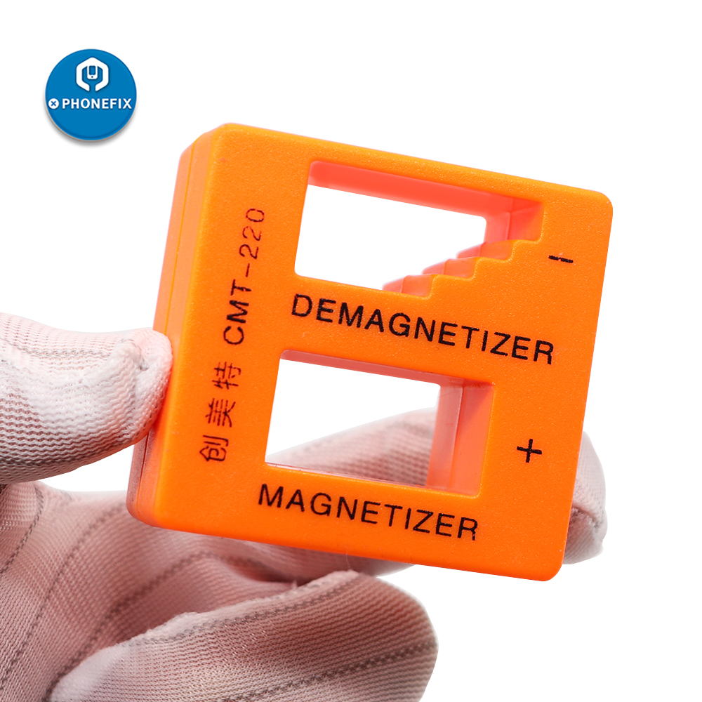 PHONEFIX New Orange Blue Magnetizer Demagnetizer Screwdriver Tip Tweezers Screw Bits Professional Gauss Degauss Pick Up Tool