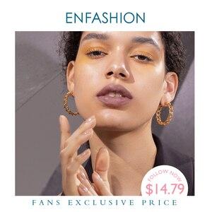 Image 1 - ENFASHION creux boucles doreilles pour femmes couleur or armure grand cercle cerceaux boucles doreilles mode bijoux en gros Pendientes E191138