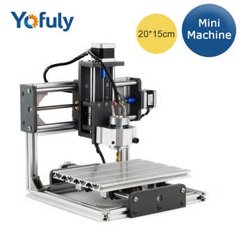 CNC GRBL Control DIY CNC Machine, 3 Axis PCB PVC Milling Machine, Working Area 20x15x6.5cm, Wood Router, Carving Engraver - DISCOUNT ITEM  25% OFF Tools