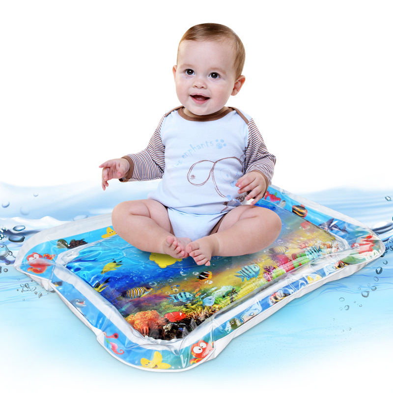 Inflatable Baby Water Floating Mat Thicken PVC Infant Tummy Baby Mat Time Toddler Activity Inflatable Water Mat For Children