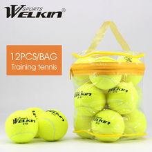 Высококачественные эластичные теннисные мячи 12 шт/лот для тренировок