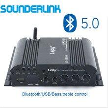 LP 168Plus ハイファイデジタルミニオーディオアンプ 40Wx2 + 68 ワット 2.1 チャンネル高出力晩餐低音高音コントロール TF Bluetooth ホーム車