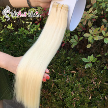 "Hiart Machine Made Weft 120G Double Drawn Human Remy Haar Fabriek Blonde Hair Extensions Straight Russische 18 ""20"" 22""(China)"
