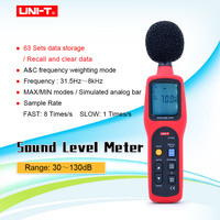 UNI T UT352 Digital Sound Lever Meter Decibel Meter Noise Tester 30~130db Max/min LCD Backlight High Alarm Data Logging