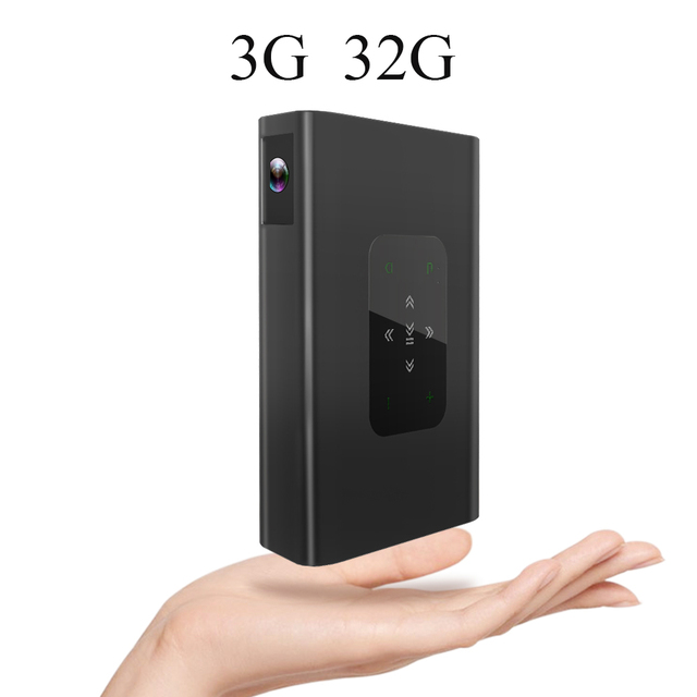CRENOVA D15 1280x720 DLP 3D Projector 10500mAh 3G 32G