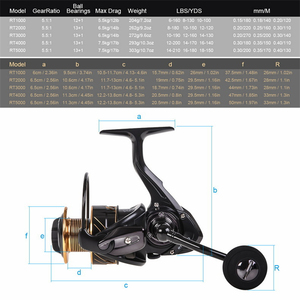 Image 4 - New RT Spinning Reel Double Spool Fishing Reel 5.5: 1BB Metal Spool Fishing Reels Carp Fishing Sea Fishing Outdoor Casting Reel