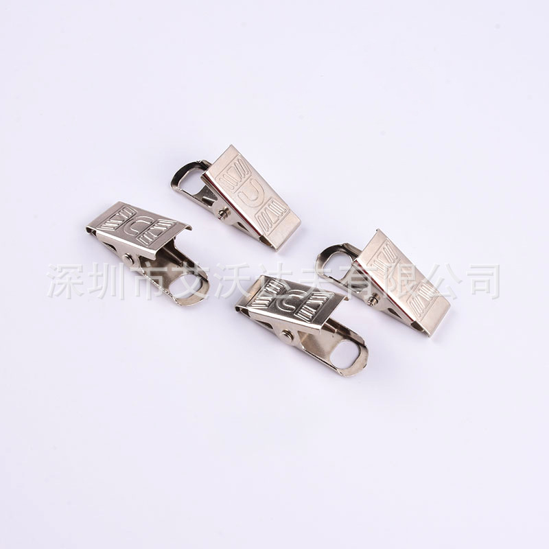 Manufacturers Direct Selling 30mm Embossed Silver-White Label Clip Party Inner Hole Metal Name Badges Holder Label Clip