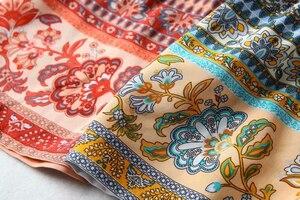 Image 3 - Vintage chic frauen hippie floral print quaste V ausschnitt Bohemian mini kleid Sommer damen flare hülse Boho kleider vestidos