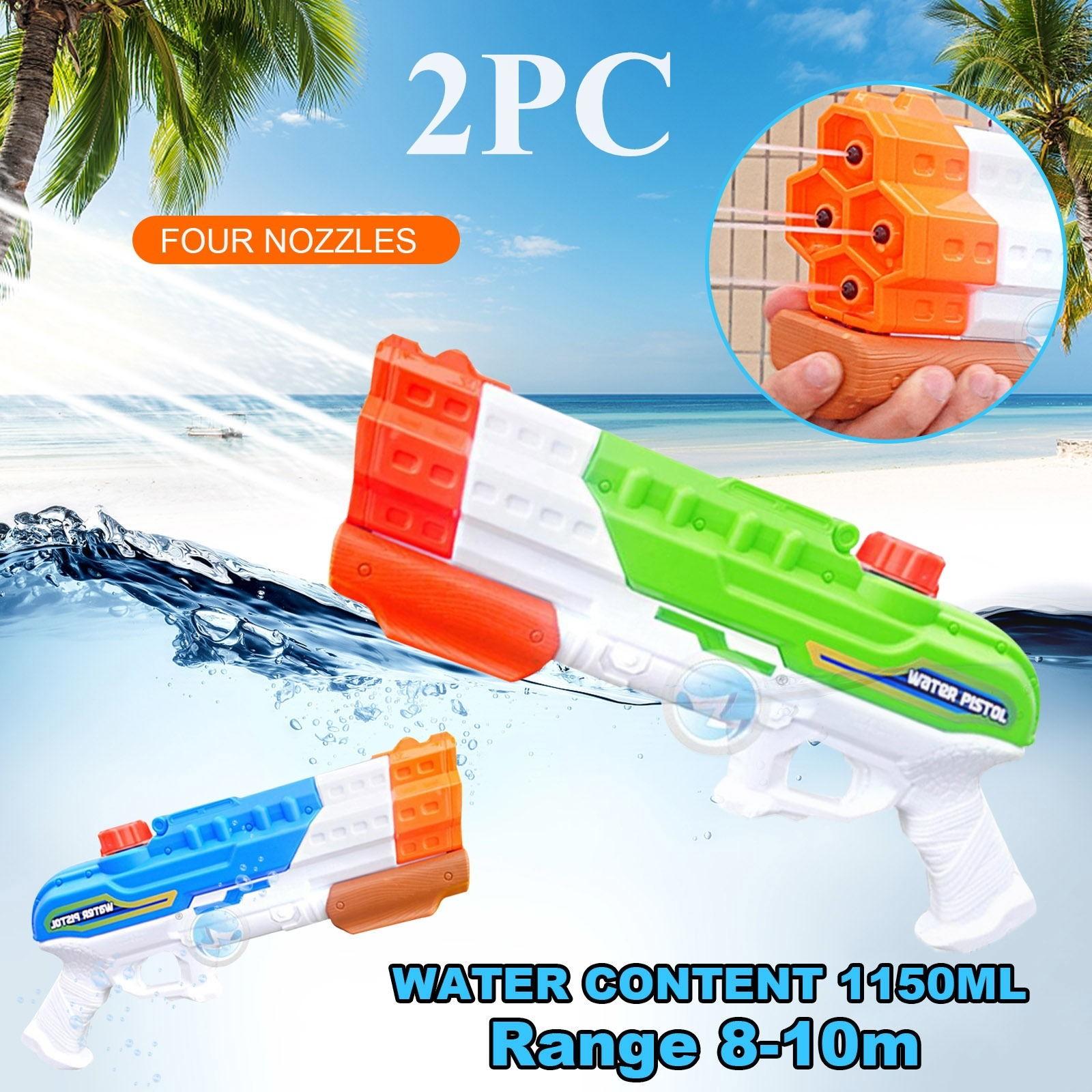 Water Guns For Kids 2 Pack1150CC Super Squirt Guns Water Soaker Blaster Toys water gun toy water gun for kids водный пистолет