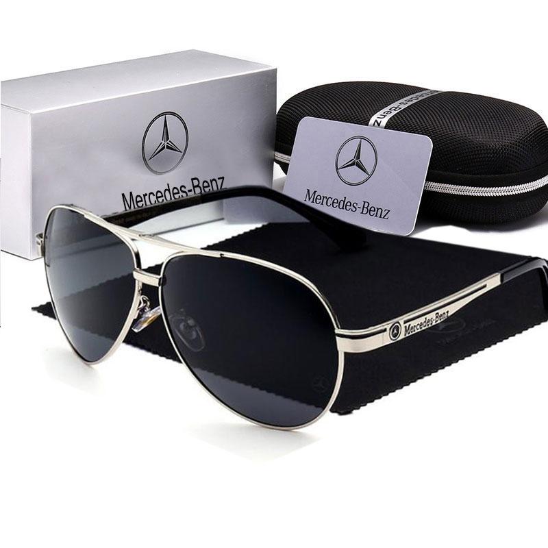 Óculos de sol polarizados de alta qualidade uv400 grande armação de metal óculos de sol condução pesca marca designer