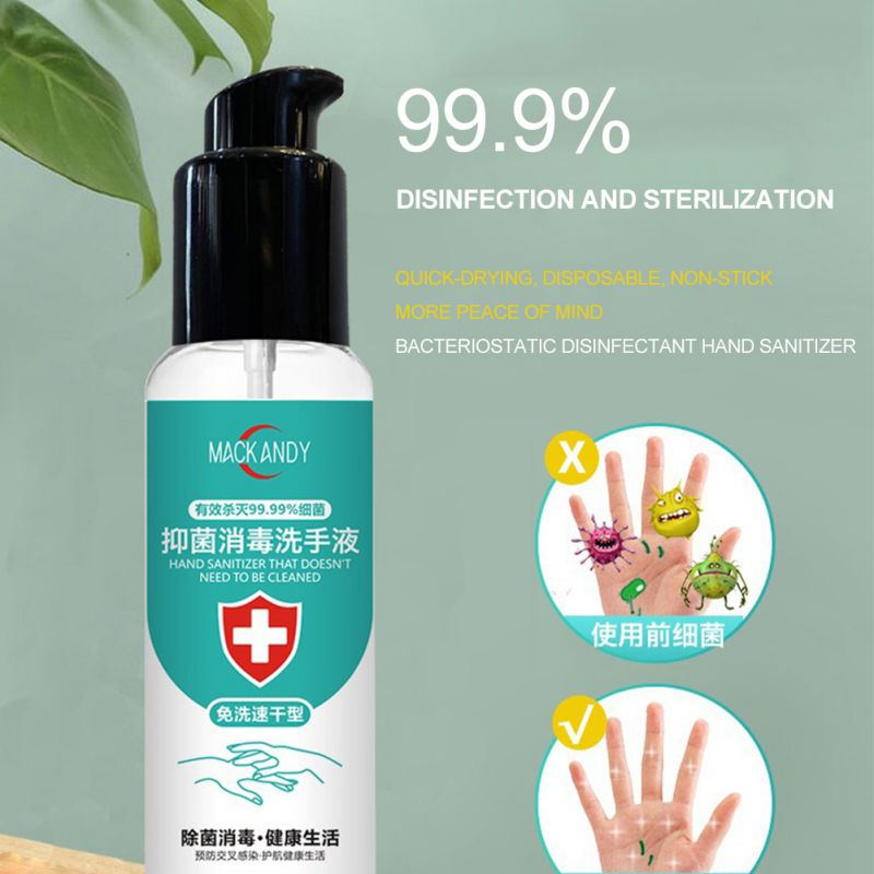 60ml Disposable Hand Sanitizer Quick-drying Hands-Free Water Disinfecting Hand Wash Gel Wholesale