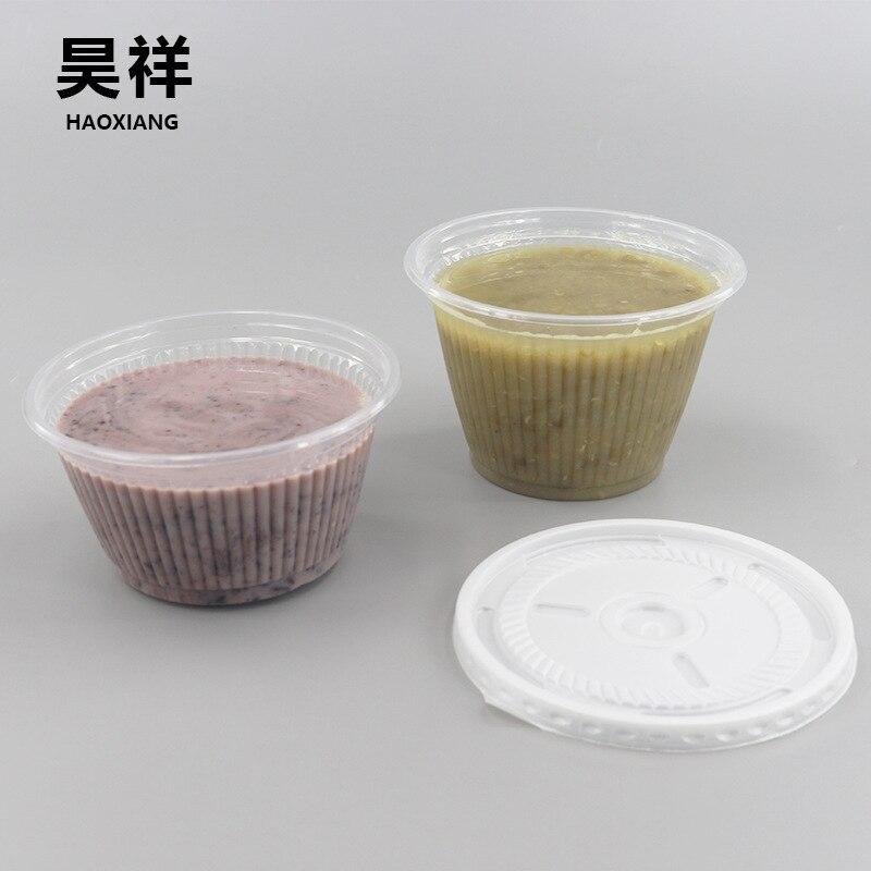 Одноразовая упаковочная коробка для супа небольшого размера с крышкой, прозрачная герметичная коробка для супа, круглая коробка для супа