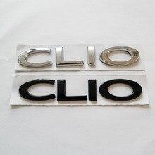 Автомобильный слово CLIO ABS хромированный черный 3D письмо Стикеры задний багажник автомобиля эмблема Авто Наклейка имя значок в форме пласти...