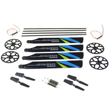 for Wltoys V911S RC Helicopter Tool Kit Bag Gears Main Rotor Blades Tail Boom Motor Wire Parts