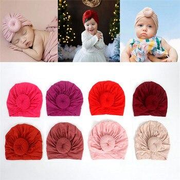 цена на Toddler Kids Baby Headband Bow Cotton Knot Turban Headband  Hat Stretchy Beanie Girl Headwear  Baby Girl Hair Accessories