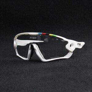Image 1 - 2019 renkli fotokromik bisiklet gözlük UV400 erkek MTB bisiklet bisiklet sürme gözlük TR90 açık spor polarize güneş gözlüğü