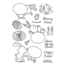 egg and bunnies Transparent Clear Silicone Stamp/Seal for DIY scrapbooking/photo album Decorative clear stamp недорго, оригинальная цена