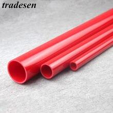 Tuyau d'irrigation en PVC de haute qualité pour Aquarium, 50cm O.D, 20 ~ 50mm, rouge, 2 pièces
