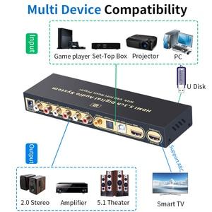 Image 2 - HD815B HDMI 5.1 convertisseur Audio décodeur DAC DTS AC3 FLAC APE 4K * 2K HDMI vers HDMI extracteur convertisseur séparateur numérique SPDIF ARC