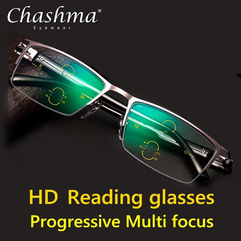 Высококачественные регулируемые визуальные бифокальные прогрессивные очки для чтения, мужские многофокальные очки