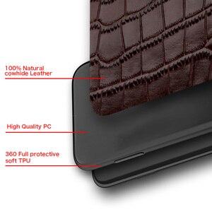 Image 5 - Étui en cuir véritable pour iPhone 12 Mini 12 Pro Max 11 Pro Max X XR XS max 5 5s 6S 6 7 8 Plus SE 2020 360 housse de protection complète