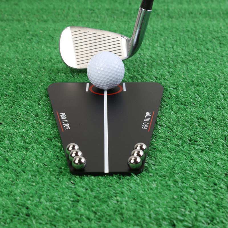 Golf Putting Tutor Mirror Portable Aid Alignment Tool Golf Indoor Outdoor Training Tools For Beginner