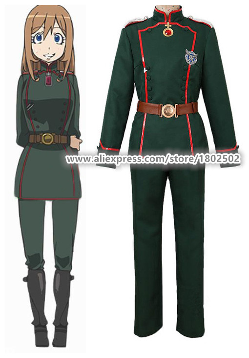 Anime Youjo Senki Tanya military uniform suit set Costume cosplay