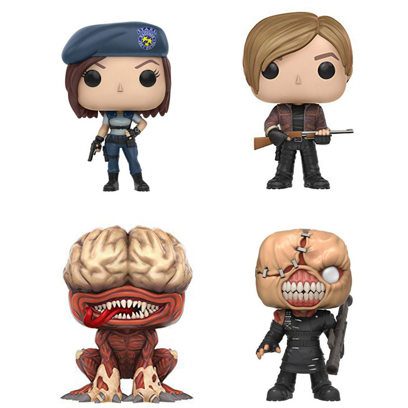 Classic Walking Dead Resident E Zombies model game Nemesis Licker leon Jill valentine action figures 10cm doll toys collection image