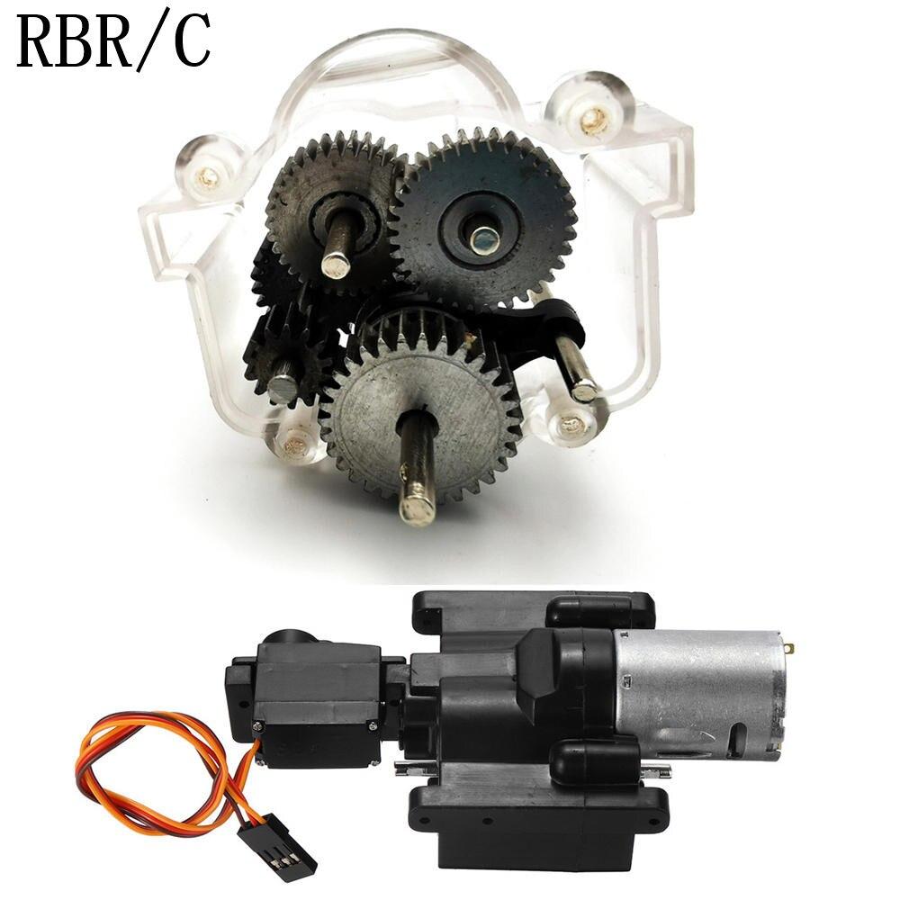 Boîte de vitesses RBR/C + 6 pièces en métal pour WPL MN JJRC diverses pièces de bricolage modifiées par voiture télécommandée