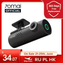 Contrôle vocal anglais 70mai voiture DVR Cam 1S 1080HD 70mai cam Vision nocturne 70Mai Dash Cam 1S enregistreur Wifi 70 mai Dash Cam 1S
