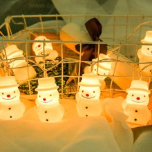 LED Christmas Lights Snowman String Lights Home Decoration Santa Claus Decoration Light Strings Cute Christmas Decoration Lights