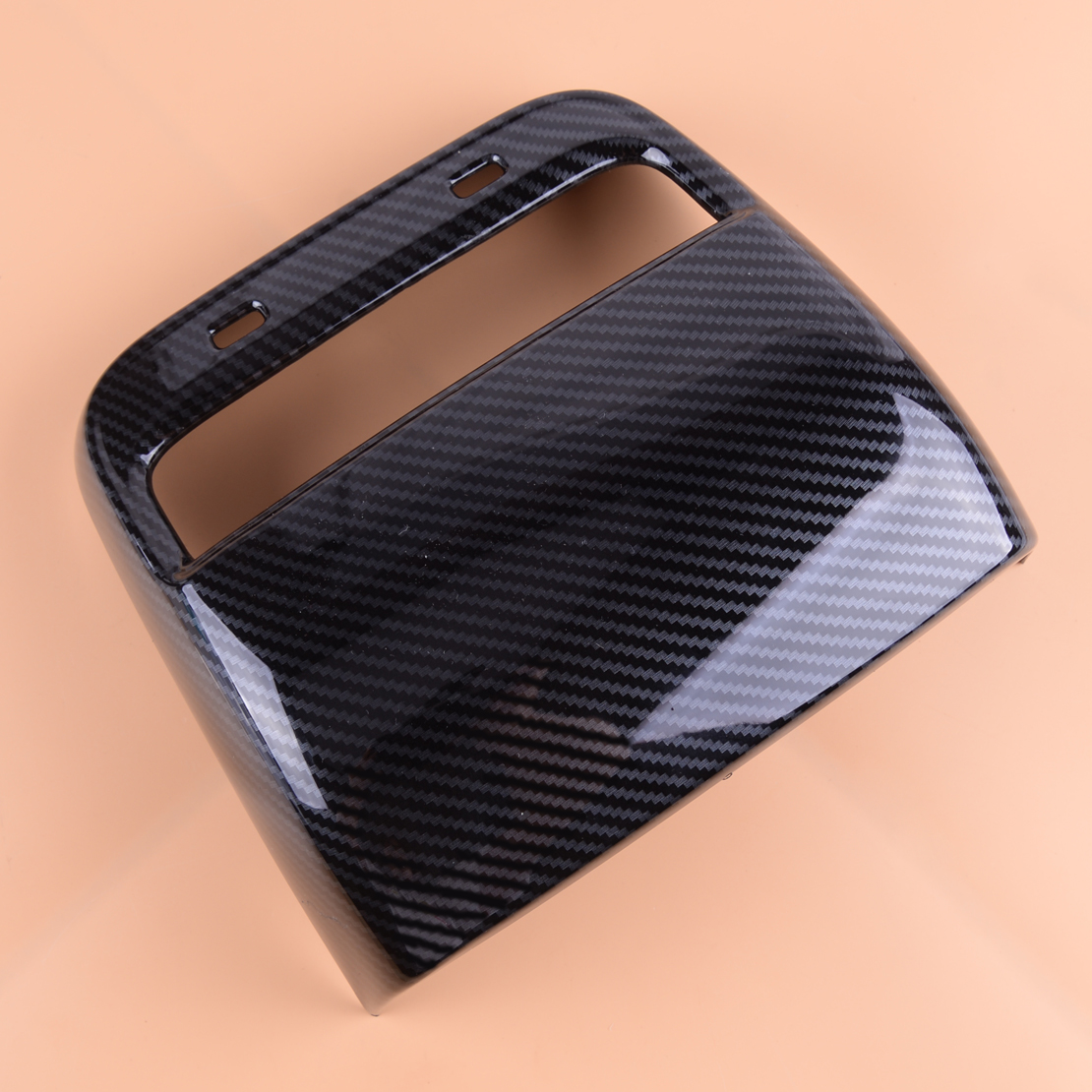 Beler Carbon Fiber Texture Rear Inner Air Vent Outlet Cover Trim 20.7x 18.8cm ABS Fit For Tesla Model 3 2018 2019