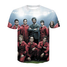 2021 New Movie Money Heist The House of Paper La Casa De Papel T Shirt summer Men 3D Printed tshirt Hip Hop Streetwear t shirt