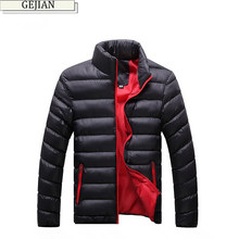 GEJIAN Winter Men Jacket 2019 Brand Casual Mens Jackets Coats Thick Parka Men Outwear M-4XL Jacket Male Clothing chaqueta hombre(China)