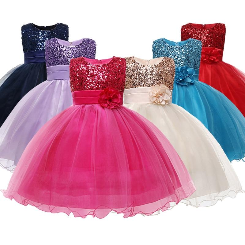 H1c8abe5afd414c608f11e2376b223651f Princess Flower Girl Dress Summer Tutu Wedding Birthday Party Dresses For Girls Children's Costume New Year kids clothes