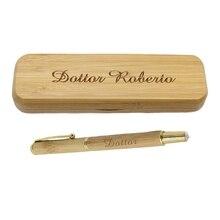 Personalized Bamboo Pen Box Best Man Groom Gift Wedding Cust