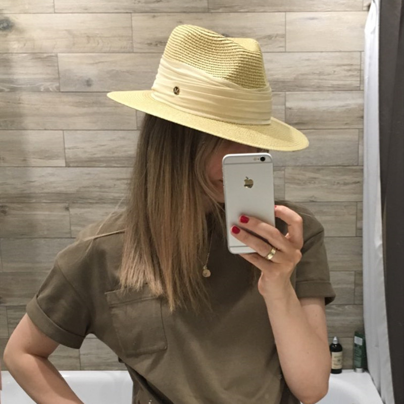 Image 2 - Korean straw heart sun hat elegant fashion all purpose small fresh grass hat holiday folding sun hat-in Women's Sun Hats from Apparel Accessories