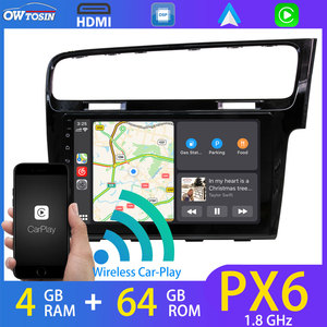 """9"""" Android 10 Car GPS Navigation Radio For Volkswagen VW Golf 7 MK7 2013-2020 Right Hand CarPlay DSP PX6 4G+64G Head Unit WiFi(China)"""