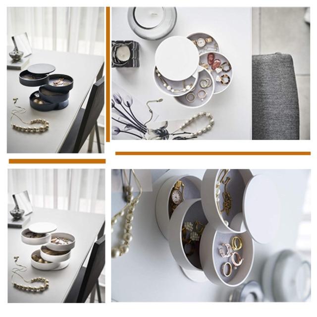 HOT SALE Multilayer Advanced Rotating Plastic Jewelry Box Storage Organizer Case