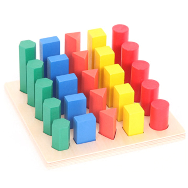 Educational Wooden Toys For Children Geometry Ladder Toy Baby Development Practice And Senses Toys Geometric Shape Size