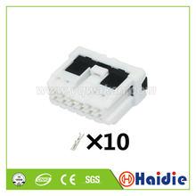 2 conjuntos 10pin auto cabo de fiação plástica arnês unsealed conector com terminais 7223-6717