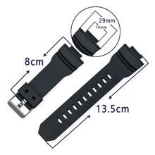 Bracelet de montre en tpu, 16mm, pour Casio g-shock GA-150/200/201/300/310/GLX GA200, accessoire de montre