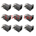 10PCS DC-005 5.5x2.1mm DC Power Jack Female Connectors 3 Pin 5.5*2.1 DC Socket Supply Barrel-Type Right Angle PCB Mount Terminal