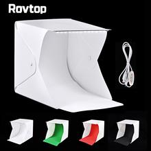 LED Panels Folding Portable Photo Video Box Lighting Studio Shooting Tent Box Kit Emart Diffuse Softbox lightbox Dimmer Switch cheap Rovtop Tabletop Shooting fotografia