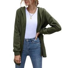 Женский модный тренчкот средней длины с капюшоном и карманами