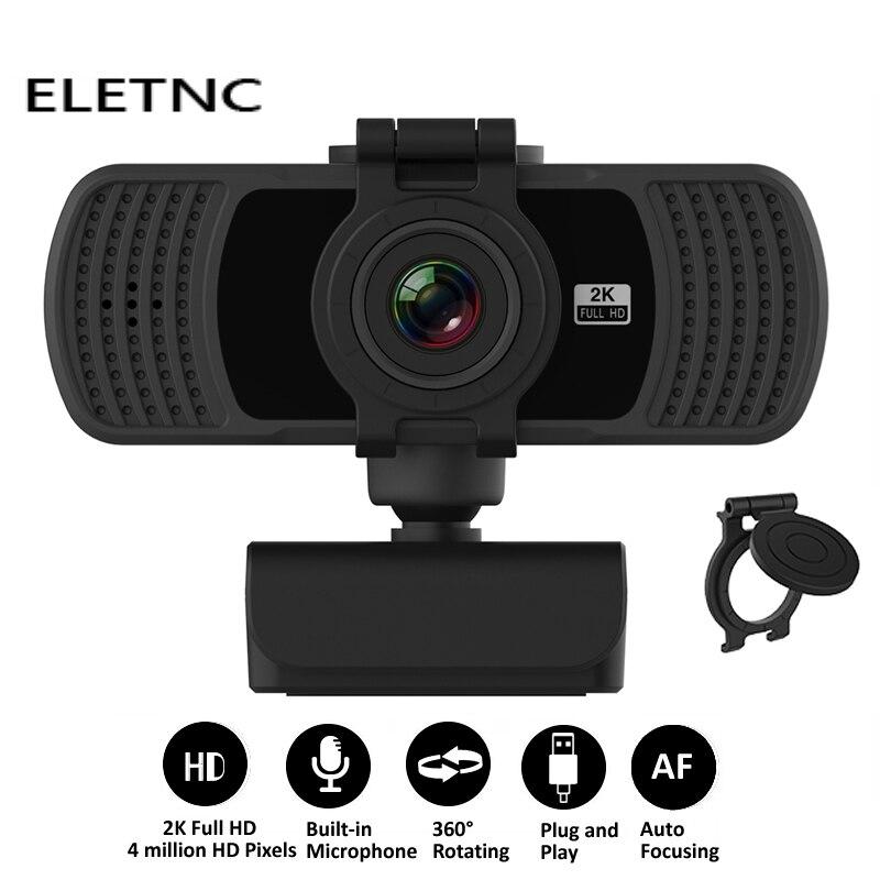 Веб-камера HD 1080P 2K компьютерная веб-камера ПК Камера С микрофоном USB Plug And Play видеосвязи Конференции работы PC Gamer сетевого вещания