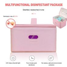 LED UVC Sterilizing Bag Portable LED Disinfection Bag for Baby Bottle Toothbrush Underwear Sterilization
