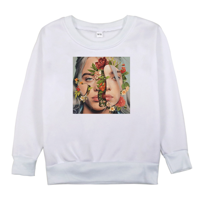 Billie Eilish Sweatshirts Printed Spring Autumn Girl Hoodies Kids Girls Cotton Clothes Sweatshirt Baby Boys Long Sleeve Shirt